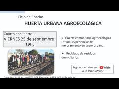 Embedded thumbnail for Ciclo de charlas huerta urbana - 4to encuentro